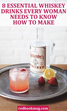 "EASY WHISKEY DRINK IDEAS AND RECIPES: Anyone can be a ""whiskey girl"" with the knowledge and know-how for these basic (and delicious) cocktails. Here you'll find easy recipes for fun drinks like a White Whiskey Collins, Mint Juleps, Whiskey Sours, and more. Click through for the full recipes and party drinks ideas."