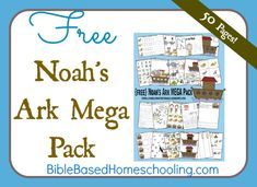 {FREE} Noah's Ark Mega Pack #Bible #homeschool