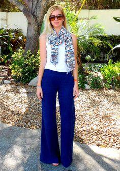 blue palazzo pants-blah blah blonde blog