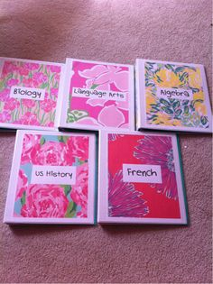 preppylillyp:    My Lilly binder covers! W@Mahalie Boucher