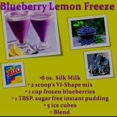 Blueberry Lemon Freeze Body By Vi Shake Recipe http://melissadrobinson.bodybyvi.com/