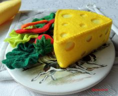 Felt Food Cheese Wedge and Salad ............................................................. by decocarin | Etsy