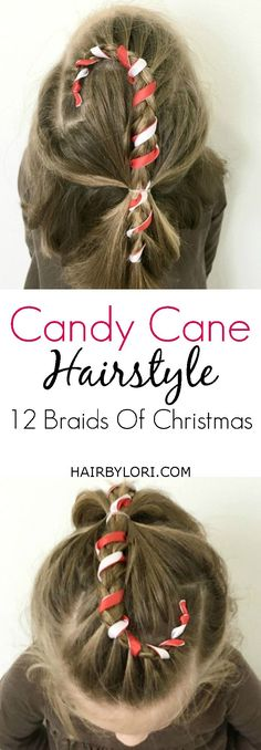 Video Tutorial: Candy Cane Hairstyle. A Fun and Easy Christmas Style