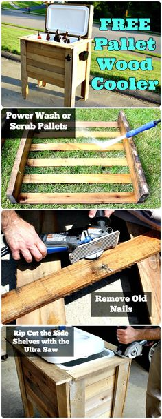 Wooden Pallet Cooler Instructions - 150 Best DIY Pallet Projects and Pallet Furniture Crafts - Page 32 of 75 - DIY & Crafts