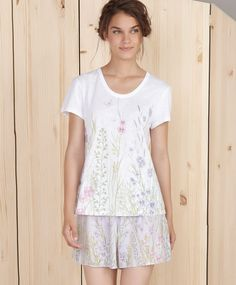 Sleeveless floral ribbed t-shirt - OYSHO