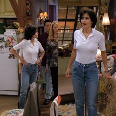 F•R•I•E•N•D•S - Monica Geller Outifit. Follow @starwrz for more! Mom Jeans, Pants, Fashion, Moda, Fasion, Trousers, Trouser Pants