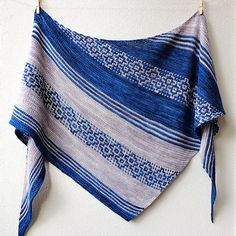Herbarium by Lisa Hannes | malabrigo mechita in Azul profundo and Pearl