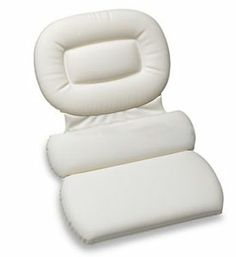 Get all the comforts of spa bathing at home when you use this great Spa Bath Pillow!