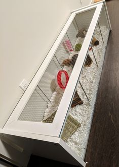 IKEA Detolf hack hamster cage with DIY lid