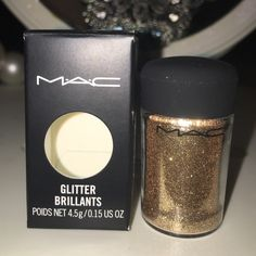 Mac glitter - gold Brand new in box, never opened or tested. 100% authentic guaranteed. MAC Cosmetics Makeup Eyeshadow
