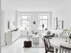 salon minimalista low cost blanco