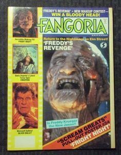 1985 fangoria horror movie #magazine v.49 #3 vf fright night - freddy
