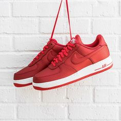 cheap for discount 9ee8f ecd30 Nike Air Force 1 Low  Red Nike Air Force Ones, Air Force 1,