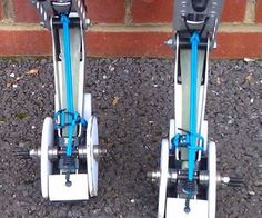 Powerisers, Powerbocking, Jumping Stilts - - Quick On/Quick Off Hooves - - the Re Mod : 9 Steps (with Pictures) Jumping Stilts, Skateboard Bearings, Heat Gun, Fantasy Armor, Do It Yourself Projects, Side Plates, Stock Pictures, Outdoor Power Equipment, Concrete
