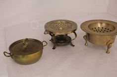 shopgoodwill.com: Gold Like Serving Pieces and Pots