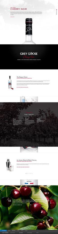 #GreyGoose Responsive Redesign by Joseph Delhommer, via #Behance #Webdesign #Branding