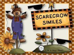 *Freebie Scarecrow Similes ( A Simile matching game) Fun Classroom Activities, Classroom Freebies, Language Activities, Activities For Kids, Reading Activities, Classroom Ideas, Too Cool For School, School Stuff, School Days