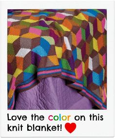 #Knit blanket love! So many fun colors :)