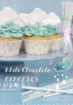Cupcakes de chocolate Blanco para los días de lluvia