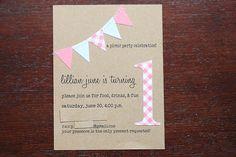 First Birthday Invite by jeninthecountry, via Flickr
