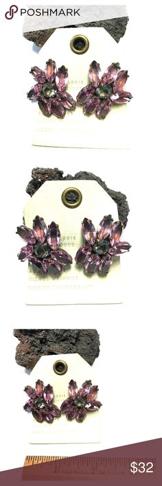 Anthropologie Alba Bijoux Royal Jewel Earrings Store overstock; New with tags; Anthropologie Purple Jewel Earrings Anthropologie Jewelry Earrings