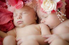 Newborn twins girls photography. Fotografía recién nacido mellisas.