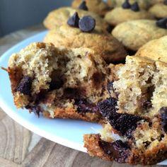 vegan & gluten free chocolate chip banana bread muffins