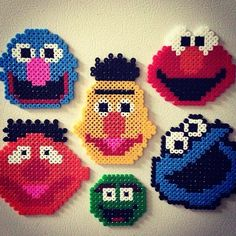 Sesame Street hama beads by Kubika Toys