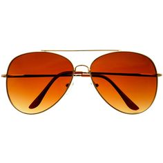 Classic Gold Metal Large Retro Vintage Pilot Aviator Sunglasses A78 ($9.95) ❤ liked on Polyvore