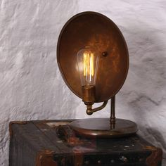 Buy online Cullen industrial table lamp By mullan lighting, handmade brass table lamp design Mike Treanor, cullen Collection Industrial Chandelier, Industrial Table, Vintage Industrial, Industrial Lighting, Light Table, Lamp Light, A Table, Online Lighting Stores, Brass Table Lamps