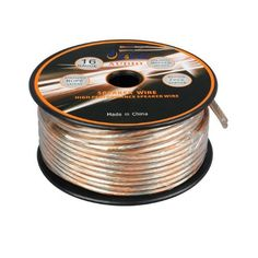 Aurum Cables 16 Gauge Transparent PVC Speaker Wire w/ ft markings every 5 ft - 200 feet by Aurum. $32.99. 200-foot, 16-Guage Speaker Wire connects speakers to your A/V receiver or amplifier.