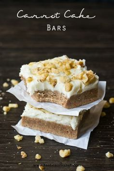 Carrot Cake Bars - Only 4 ingredients?! I can so that!