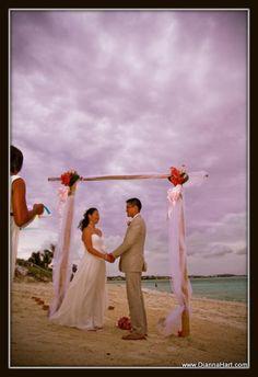 Beach weddings in the Caribbean by Dianna Hart Photography. www.DiannaHart.com