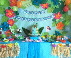 Heart healthy dinner recipes for two party invitations recipes Jungle Theme Birthday, Moana Birthday Party, Moana Party, 4th Birthday Parties, Moana Themed Party, Aloha Party, Luau Party, Diy Birthday Decorations, Tropical Party