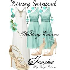 Wedding dresses disney jasmine inspired outfits ideas for 2019 Princess Jasmine Wedding, Aladdin Wedding, Disney Wedding Dresses, Wedding Dress Chiffon, Blue Wedding Dresses, Disney Dresses, Princess Wedding Dresses, Disney Outfits, Disney Inspired Wedding