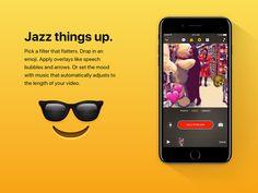 Apple julkaisee pian uuden videoeditorin älylaitteille. Lisätietoja: http://www.apple.com/clips/ #clips #apple