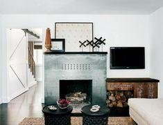 Brennholz Dekoration Und Lagerung, Elegante Funktionalität
