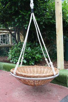 Incredible Portable Round Outdoor Swing Bed Ideas - My Dream House Outdoor Fun, Outdoor Swings, Outdoor Spaces, Outdoor Living, Outdoor Decor, Porch Swings, Diy Swing, Hammock Swing, Outside Swing