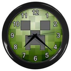 Minecraft Creeper 3D Pixel Block Games Wall Clock Home Room Decor NEW! LIMITED!