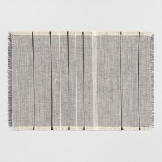 White and Brown Woven Jute Placemats Set of 4 - v1