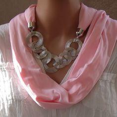 Collier foulard Atlas - Collier Foulard en tissu - Foulards bijoux - Eclats de Cristal