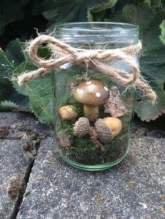 Diy herbstdeko basteln wald im glas herbst dekoration - Herbstdekoration im glas ...