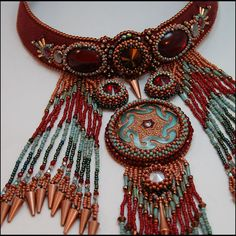 Galilaha Bead Embroidered Neck PIece by GoodQuillHunting on Etsy, $700.00