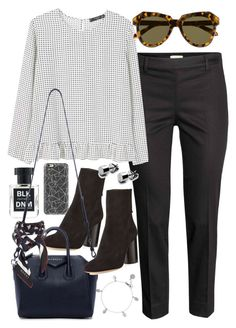 """""""outfit for work"""" by ferned on Polyvore featuring Casetify, MANGO, Isabel Marant, BLK DNM, Karen Walker, Givenchy, Chupi and Gucci"""