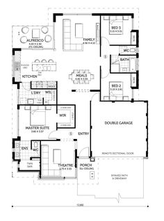 The Lovina Display Home in Wellard House Layout Plans, Family House Plans, Best House Plans, Dream House Plans, Modern House Plans, House Layouts, Duplex Floor Plans, House Floor Plans, Narrow House Plans