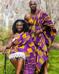 See How Ghanaian Couples Are Rocking This Iconic Super Luxe Big Day Looks in Kente - Wedding Digest Naija Nigerian Traditional Dresses, Ghana Traditional Wedding, African Traditional Wedding Dress, African Wedding Attire, African Attire, African Wear, African Dress, African Theme, African Shirts