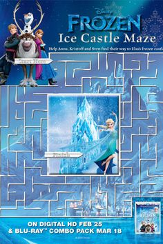 Bubakids Disney Frozen Free Printable Maze connect the dot pages and color by numbers pages for kids. 5th Birthday Party Ideas, Frozen Birthday Party, Birthday Games, 3rd Birthday, Princess Birthday, Birthday Parties, Frozen Disney, Frozen Movie, Disney Diy