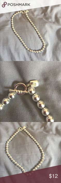 """Ralph Lauren Necklace 16"""" Silver ball necklace. I purchased this a while ago from another Posher, but it's too small for my neck and it also has a tarnished ball. The last picture shows the tarnish ball. Ralph Lauren Other"""