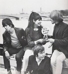 "Anita Harris presents an award from Radio Luxembourg to Keith Richards, Charlie Watts and Brian Jones aboard the Riverbus, Kingwood. River Thames, London. 1965. ""Rock and roll ain't nothing but jazz with a hard backbeat."" ― Keith Richards. [Life Book.] ❤ #KeithRichards #StonesIsm #PattiHansen #CrosseyedHeart #MickJagger #CharlieWatts #RonWood #Rock #Music #Legend #Quote #Life #Book"