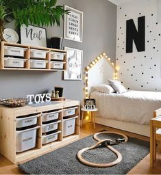 L - kinderzimmer mommo design: 10 IKEA TROFAST HACKS There are some other tricks of the painted furn Ikea Boys Bedroom, Baby Bedroom, Baby Boy Rooms, Ikea Kids Playroom, Baby Room Decor For Boys, Playroom Decor, Ikea Baby Room, Childs Bedroom, Ikea For Kids
